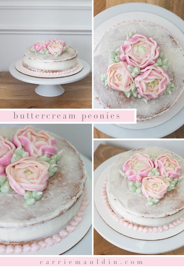 buttercream peonies